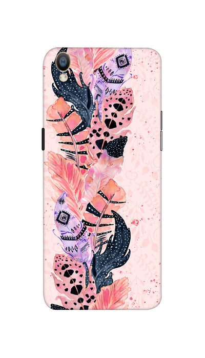 Coloured Feathers Hard Case For Oppo F1 Plus