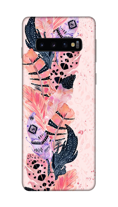 Coloured Feathers Hard Case For Samsung S10 Plus