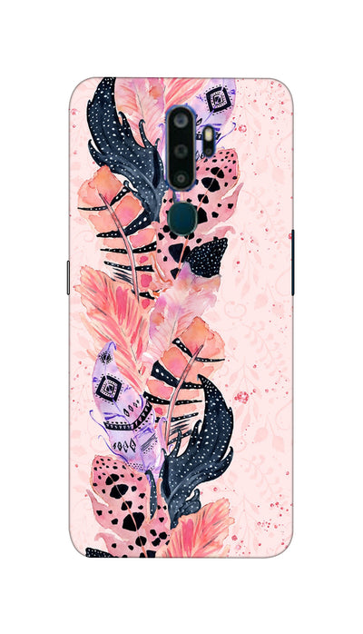 Coloured Feathers Hard Case For Oppo A5-2020