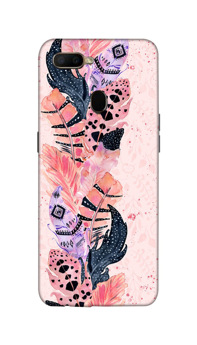 Coloured Feathers Hard Case For Oppo A5S