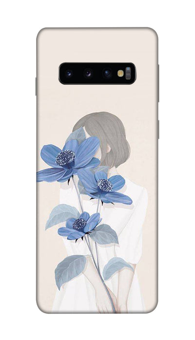 Flower & face Hard Case For Samsung S10 Plus