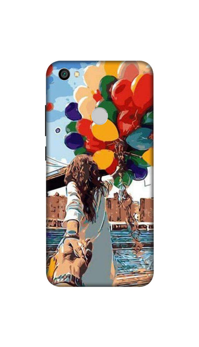 Colored ballons & girl Hard Case For Redmi Y1