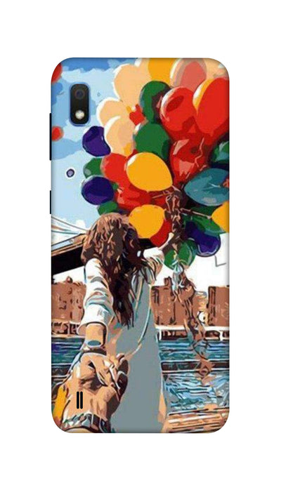 Colored ballons & girl Hard Case For Samsung A10