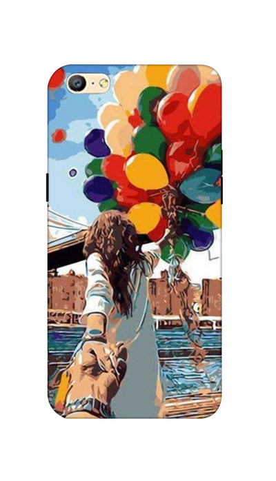 Colored ballons & girl Hard Case For Oppo A57
