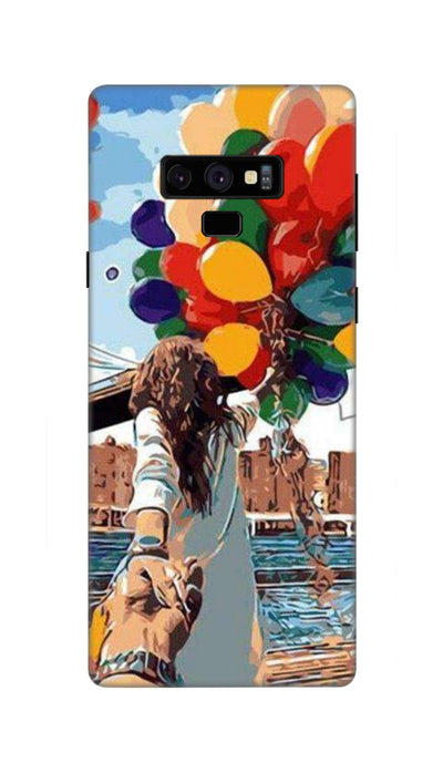 Colored ballons & girl Hard Case For Samsung Note 9
