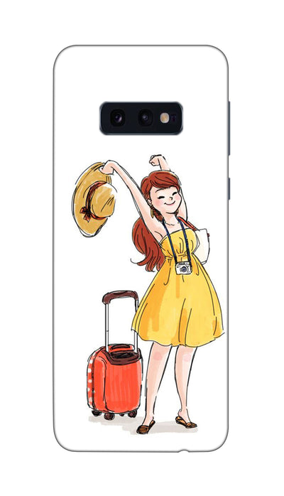 Happy Travelling Hard Case For Samsung S10E