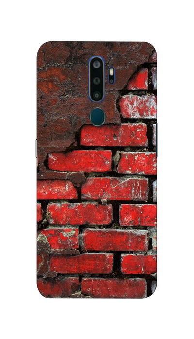Red wall Hard Case For Oppo A5-2020