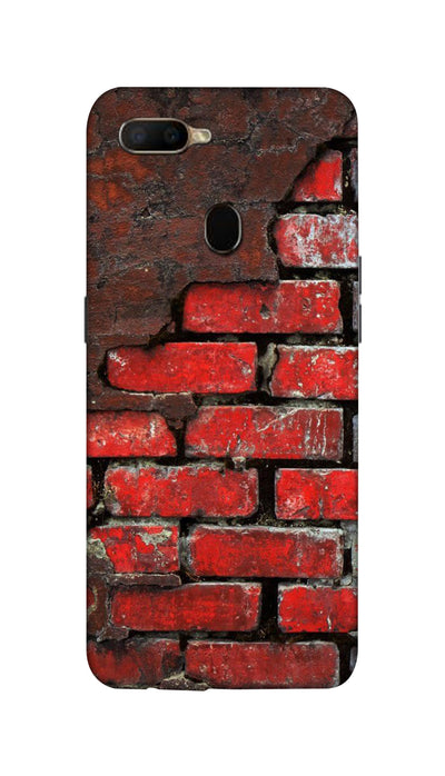 Red wall Hard Case For Oppo A5S