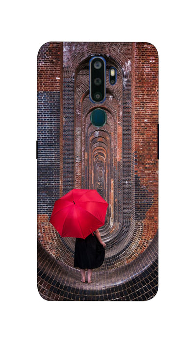 Red Umbrella Hard Case For Oppo A5-2020