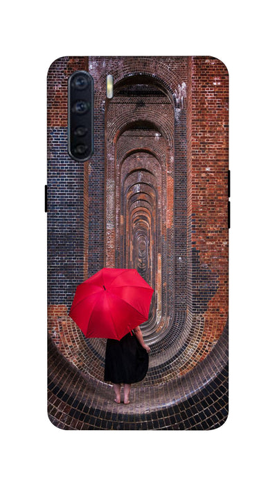 Red Umbrella Hard Case For Oppo F15