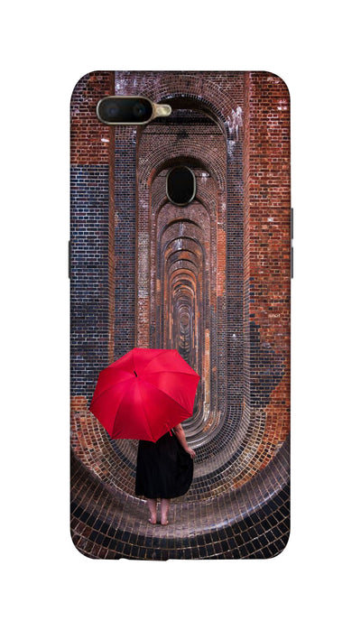 Red Umbrella Hard Case For Oppo A5S