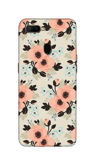 Peach flowers Hard Case For Oppo A5S