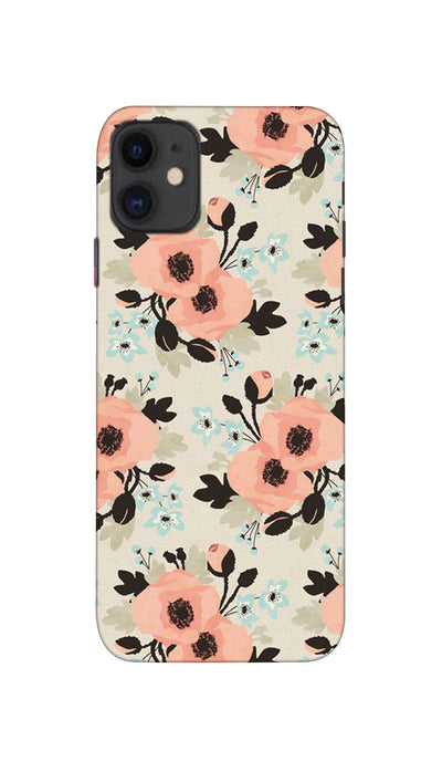 Peach flowers Hard Case For Apple iPhone 11