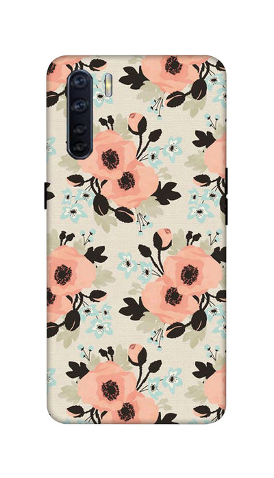 Peach flowers Hard Case For Oppo F15