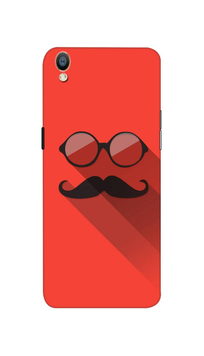 Mustache & glass Hard Case For Oppo F1 Plus