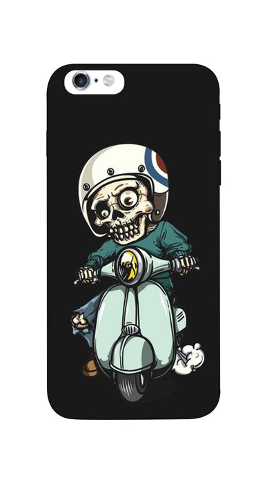 Skeleton on scooter Hard Case For iPhone 6S Plus
