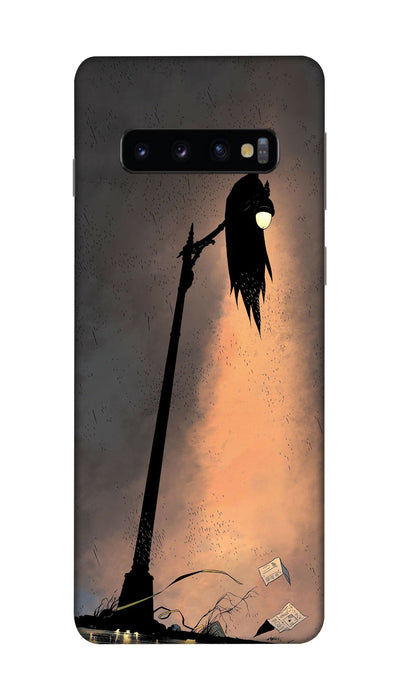 Batman on the pole Hard Case For Samsung S10 Plus