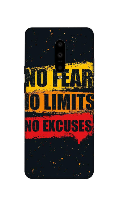 No Fear No Limits No Excuses Hard Case For OnePlus 7