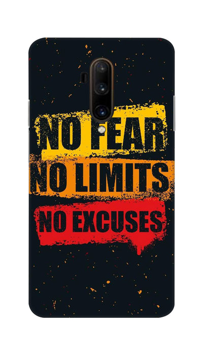 No Fear No Limits No Excuses Hard Case For OnePlus 7T Pro