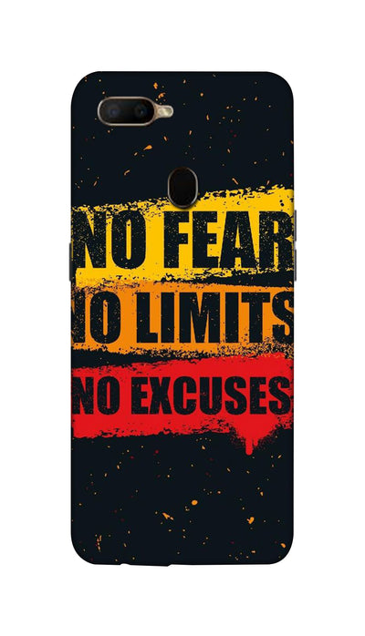 No Fear No Limits No Excuses Hard Case For Oppo A5S