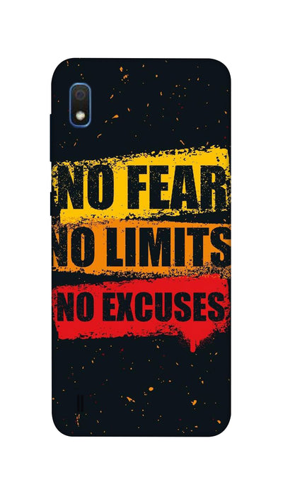 No Fear No Limits No Excuses Hard Case For Samsung A10