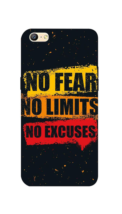 No Fear No Limits No Excuses Hard Case For Oppo A57