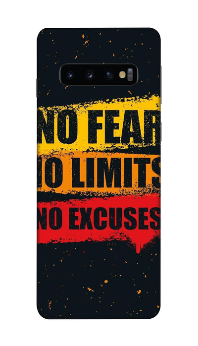 No Fear No Limits No Excuses Hard Case For Samsung S10 Plus