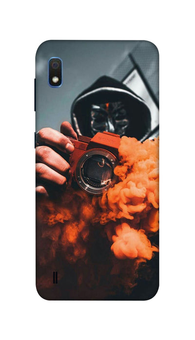 Orange smoke Hard Case For Samsung A10