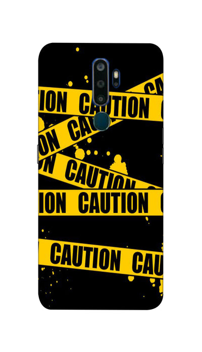 Danger caution Hard Case For Oppo A9-2020