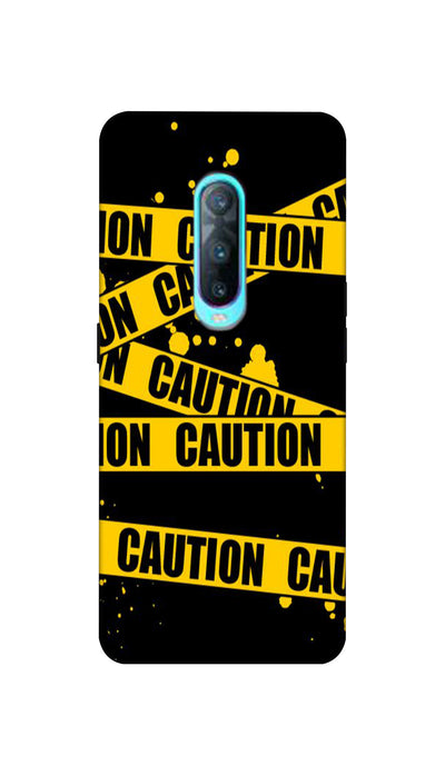 Danger caution Hard Case For Oppo R17 Pro