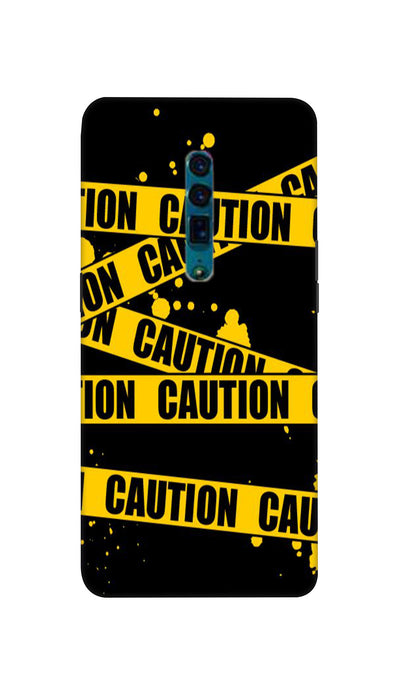 Danger caution Hard Case For Oppo Reno