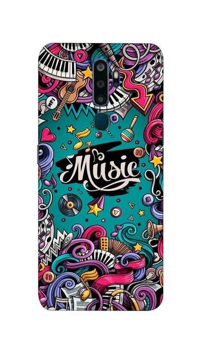 Music passion Hard Case For Oppo A9-2020