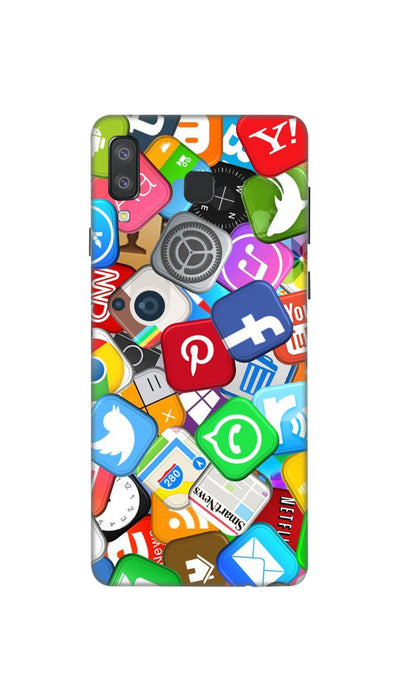 Social media Hard Case For Samsung A8 Star