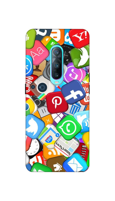 Social media Hard Case For Oppo R17 Pro