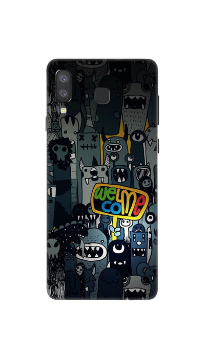 Horror Welcome Hard Case For Samsung A8 Star