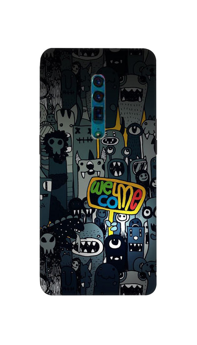 Horror Welcome Hard Case For Oppo Reno