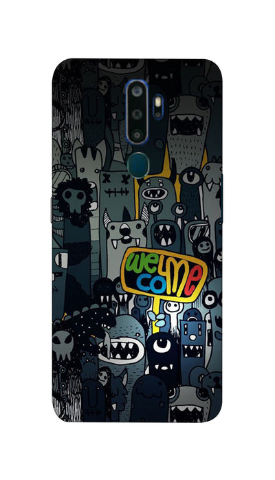 Horror Welcome Hard Case For Oppo A5-2020