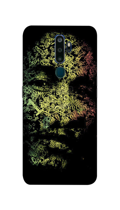 Zig zag face Hard Case For Oppo A9-2020