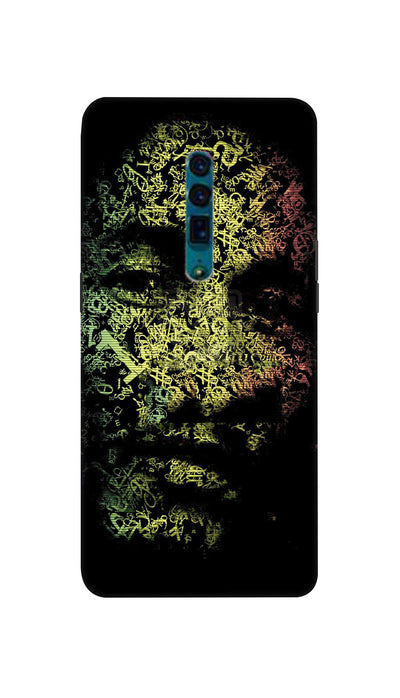 Zig zag face Hard Case For Oppo Reno