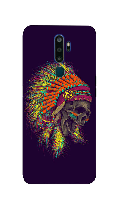 skull screaming Hard Case For Oppo A9-2020