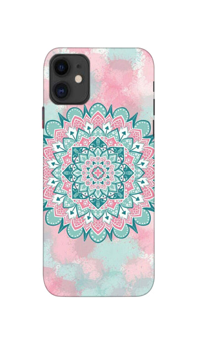 Colourful rangoli pattern Hard Case For iPhone 11