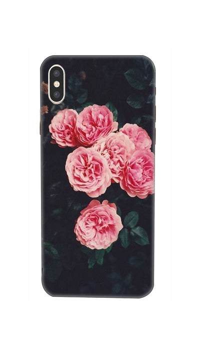 Pink Flowers Hard Case For iPhone XS