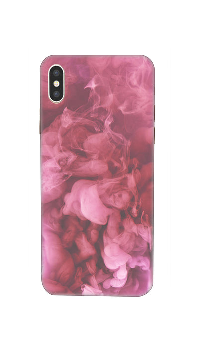 Pink Smoke Hard Case For iPhone XS