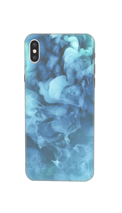 Blue Smoke Pattern Hard Case For iPhone XS