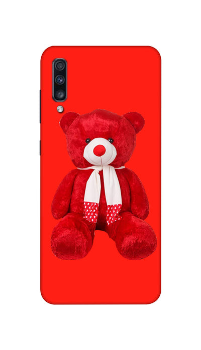 Red and White Teddy Hard Case For Samsung A70S