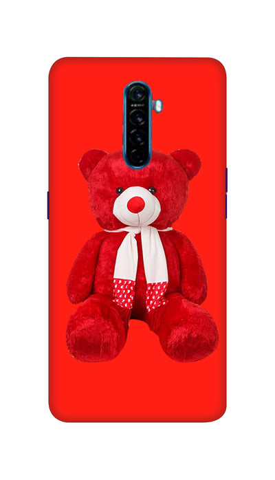 Red and White Teddy Hard Case For Oppo Reno Ace