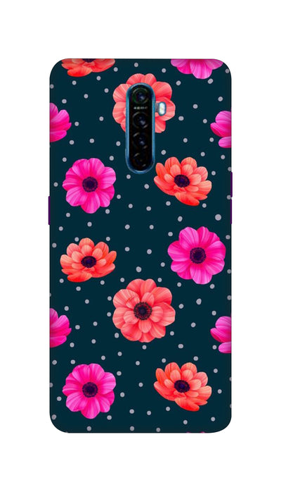 Pink and Orange Flower Hard Case For Oppo Reno Ace