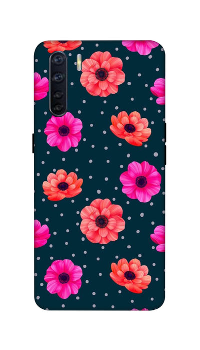 Pink and Orange Flower Hard Case For Oppo F15