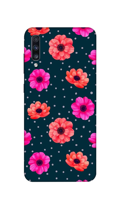 Pink and Orange Flower Hard Case For Samsung A70S