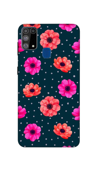 Pink and Orange Flower Hard Case For Samsung M31